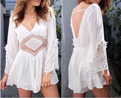 Crocha Playsuit Only $34.99 Loose fitting.Mid length bell sleeve. Sleeve has lace detailing at trim. V neckline with transparent lace detailing on body. Deep V at back.Hidden back zip.Soft fabric. Loose fitting shorts with flare. Shorts are lined.Polyester/cotton. EMAIL, MESSAGE OR COMMENT TO PLACE AN ORDER!!! #SkyeBoutique
