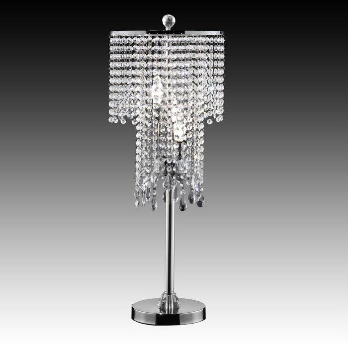 crystal bead curtain chrome table lamp home pinterest