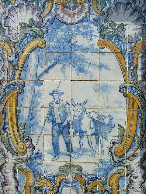 Fonteira, Azulejos da velha Estação de Comboios by moitas61, via Flickr