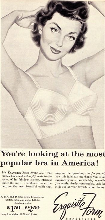 A Bullet Bra :I have a feeling my first bra was one of these even though I didn't start wearing one until the early 60's. It always looked like I had a pencil stuck between the nipples.