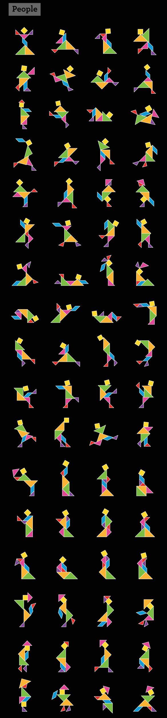 WALLS 360 BLOG » Wall Tangrams: Shapes Guide I (Multi-Color)