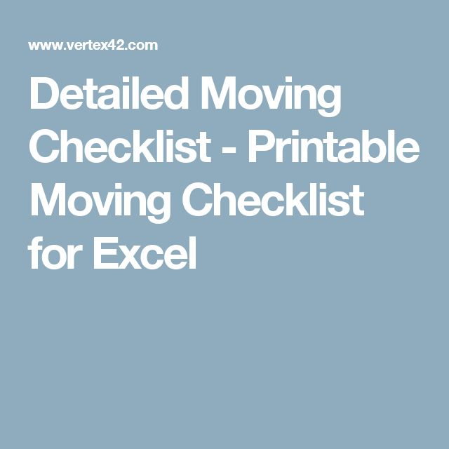 The 25+ Best Moving Checklist Printable Ideas On Pinterest