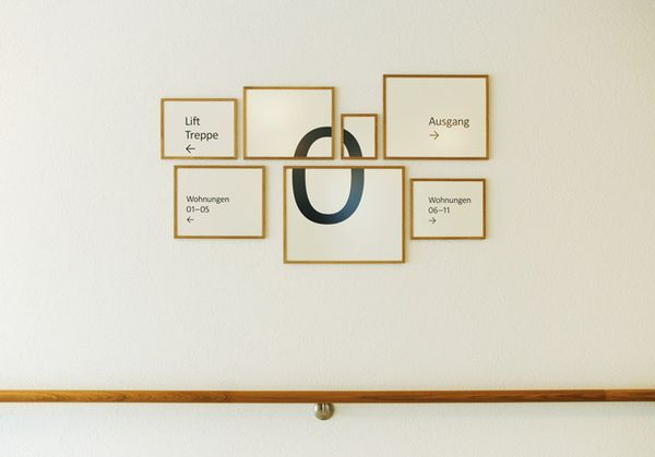 Hottingen Retirement Home - Zurich, signage done by  Aline Dallo, Julia Kind, Kathrin Urban and Tina Staheli