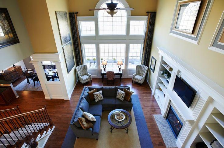 the wynterhall family room overhead view