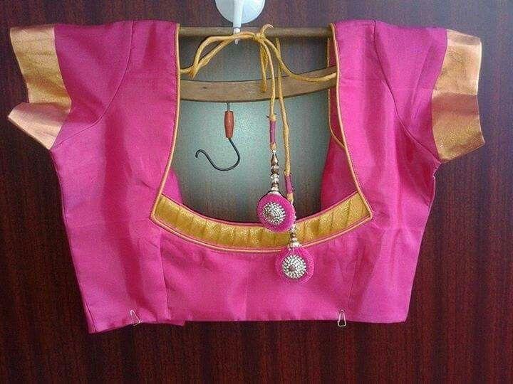 simple neckline love the tassels