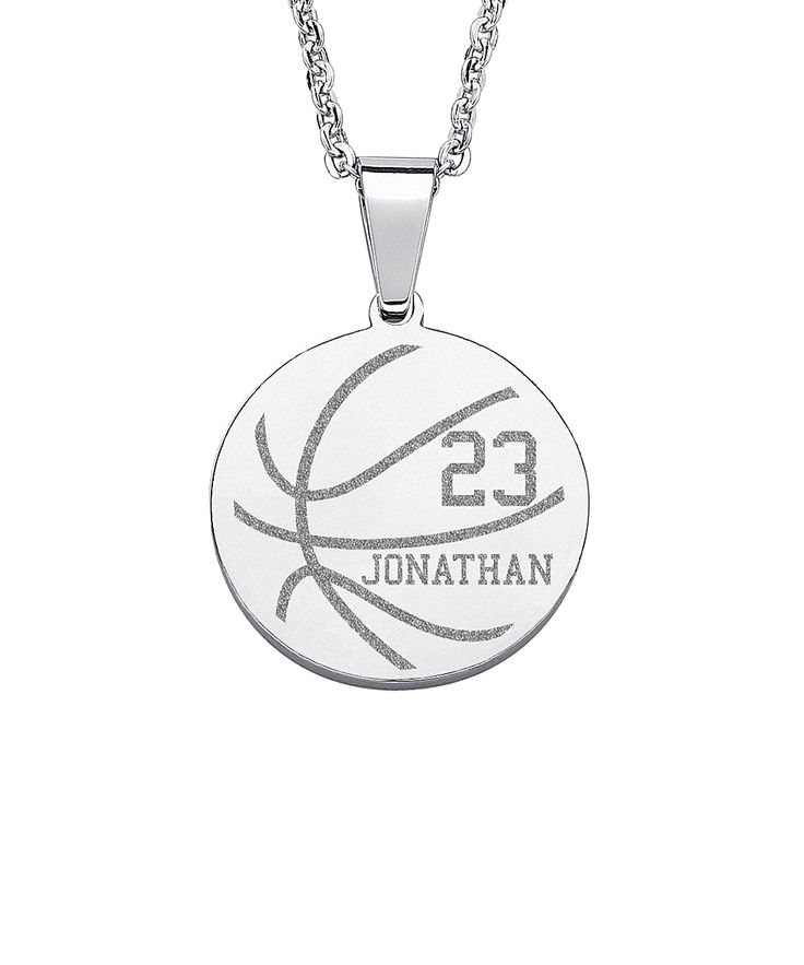 Stainless Steel Personalized Basketball Pendant
