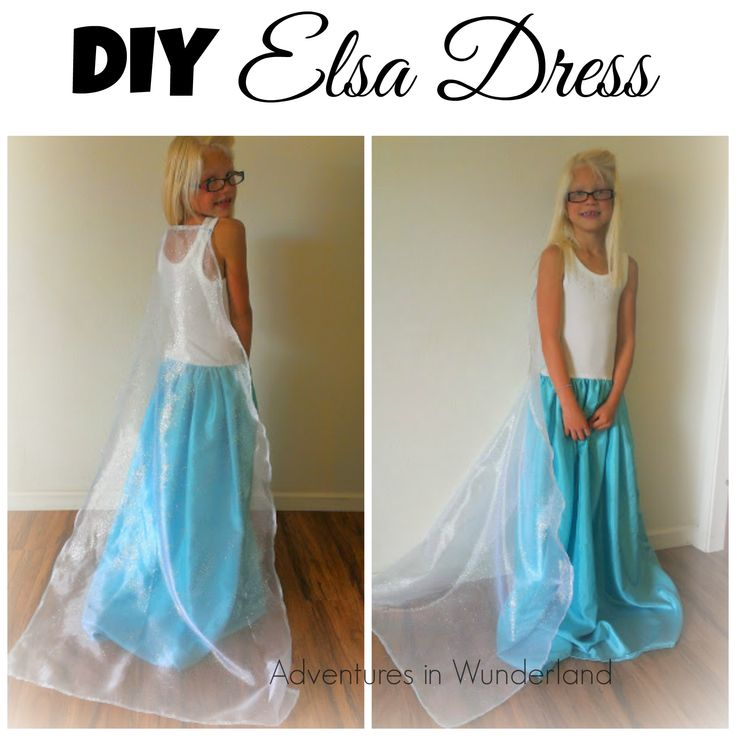 DIY Elsa Dress for less than $20 #DisneySide #Elsa #Frozen
