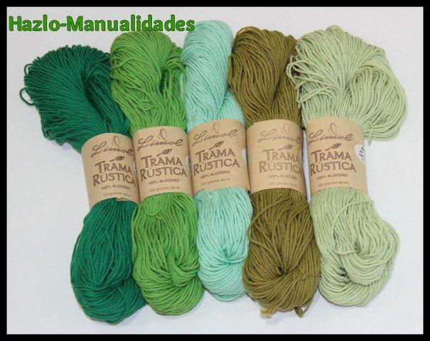 El verde es el color de la esperanza y sus diversos tonos también están disponibles en TRAMA RÚSTICA. ¡Una combinación perfecta!