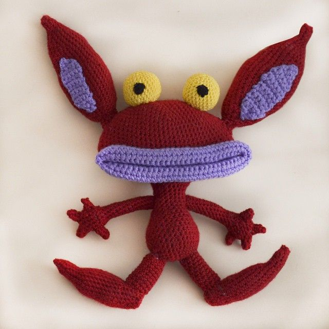 El pequeño Ickis listo!!!! Mi favorita era Oblina ☺️ #amigurumi #ninjatejedor #amigurumis #handmade #hechoamano #diy #ganchillo #crochetaddict #instacrochet #amigurumicrochet #ickis #ahhhrealmonsters
