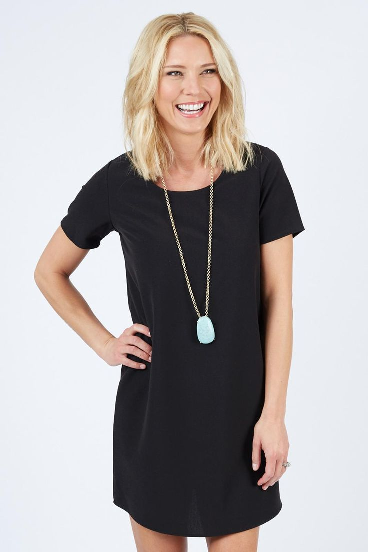 Black dress goals - Kendra Zip Back Tunic Dress 58 The 1 Boutique For Moms 5 Flate