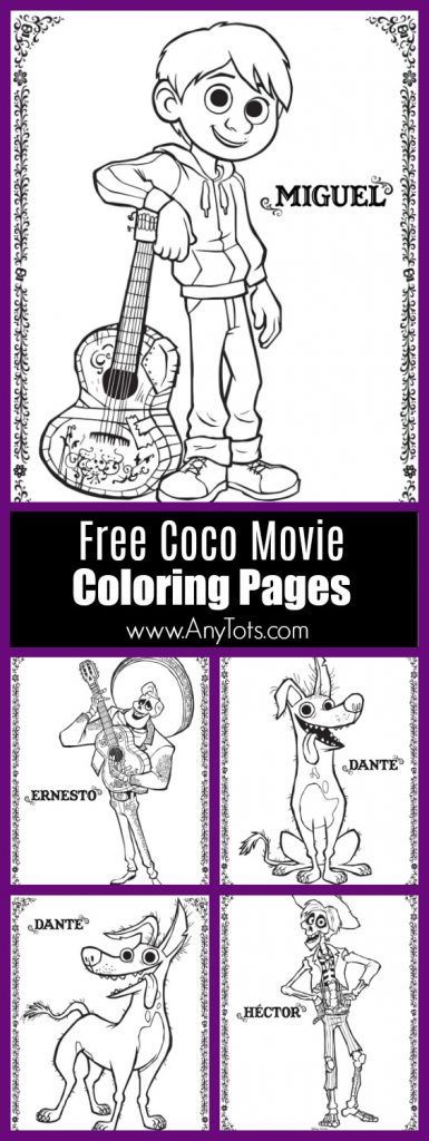 Free Printable Coco Coloring Pages. 22 pages of free Disney pixar's Coco coloring pages & activity sheets. Free Printable Coco Coloring Pages, Coco Free Printable Maze, Coco Movie Crafts, Coco Guitar Craft Tutorial, Coco Party Food, Coco Party Decorations, and more Free Coco Activity Sheets. www.anytots.com for more party ideas and free printable.