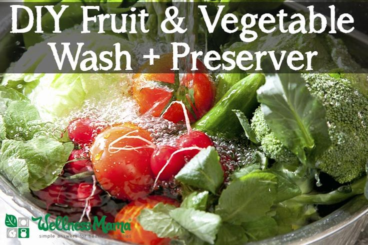 Make your own DIY fruit and vegetable wash with natural ingredients- it also helps keep produce fresh longer! Use salt, vinegar and lemons.