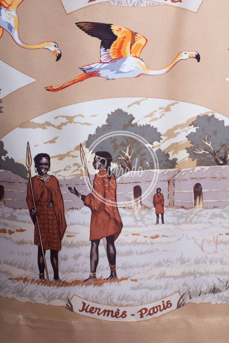 "HERMÈS - Camicia in seta ""TANZANIE"" By Robert Dallet"