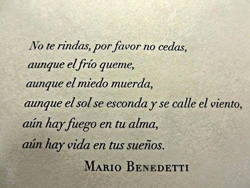 Irse. Mario Benedetti.