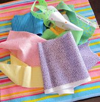 stephjacobson: fabric strip burp cloth tutorial