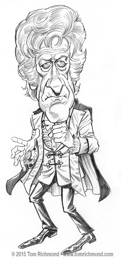 Here's the third Doctor... Jon Pertwee! Again, these are pencil studies for my new, updated Doctor Who limited edition print which will debut at NYCC in October! As always, this sketch is available...