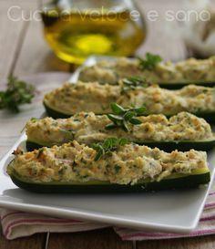 Zucchine ripiene saporite, ricetta facile   Cucina veloce e sana