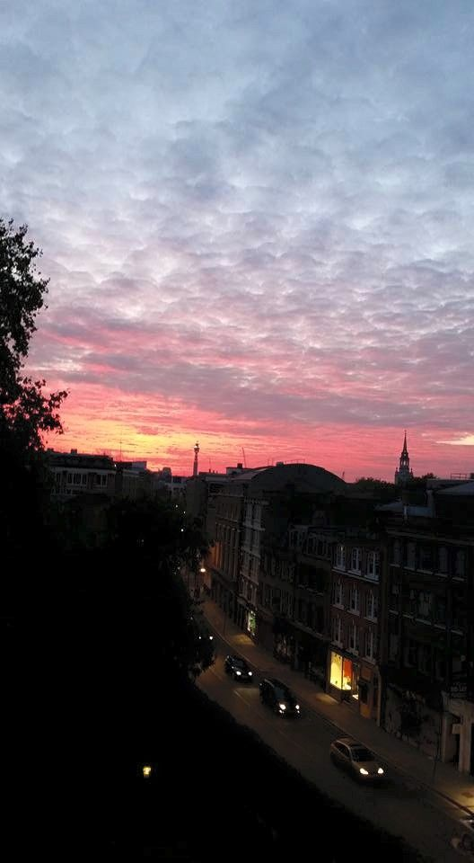 A weekend sunset from the top floor. Photo by Dr Tanya Klymenko