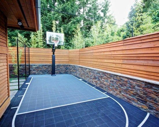 Best 25 backyard basketball court ideas on pinterest for Home outdoor basketball court cost