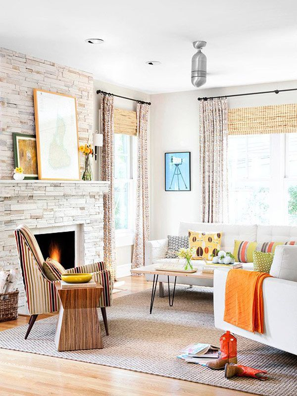 Have a home for sale with an outdated brick fireplace surround?  White washing is a great way to give it a new updated look and breath new life into it!