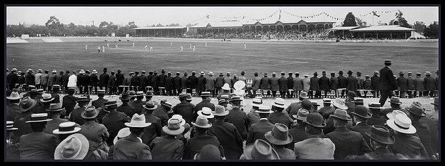 Adelaide Oval 1902 : 2nd day of the 3rd cricket Test between Australia and England (Australia won by 4 wickets).  State Library of South Australia, via Flickr