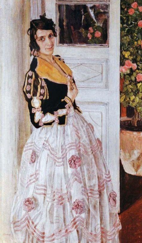 Alexander Golovin, The Spanish Woman at Balcony, 1911