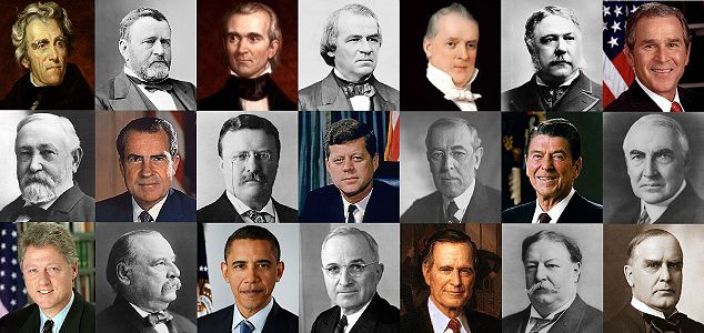 "Damn well right Kennedy should be right in the middle. (""U.S. Presidents with Irish roots."")"