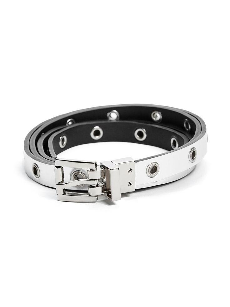Reversible Two-Tone Skinny Belt