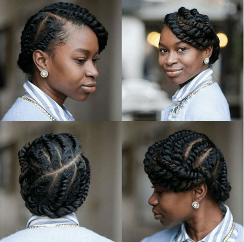 Protective Hairstyles For Natural Hair very nice jervinia thomas urbanhairpost protectivestyle flattwist naturalhair bun Find This Pin And More On Protective Styles For Natural Hair By Naturalhairmag
