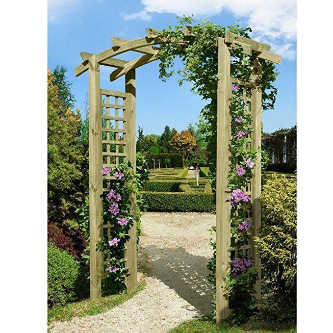 Eingangspergola 160x62x220 cm Pergola aus Holz mit Rankelementen von Gartenpirat® – garten ideen gestaltung garten deko garten dekoration garten diy …