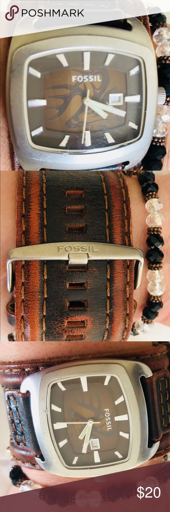 FOSSIL WATCH PRE LOVED NEEDS BATTERY FOSSIL WATCH PRE LOVED NEEDS BATTERY FOSSIL Accessories Watches
