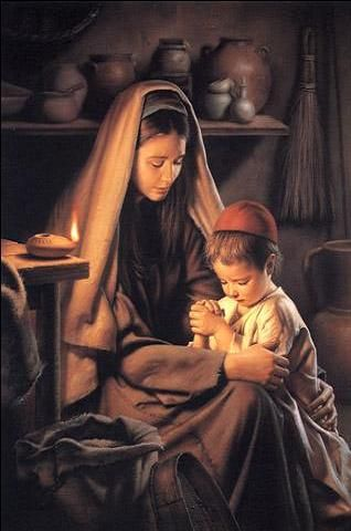 Jesus Praying with Mary