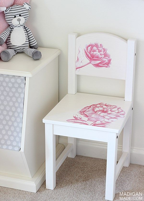 DIY Child's Chair with Photo Transfer Medium