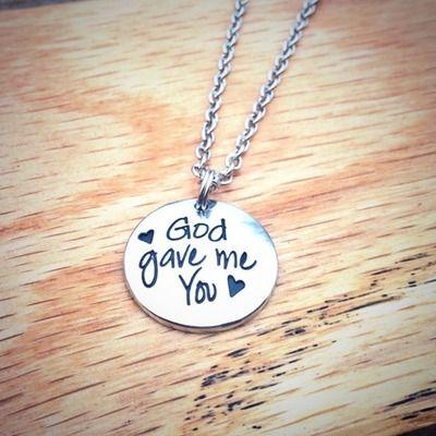 God gave me you necklace