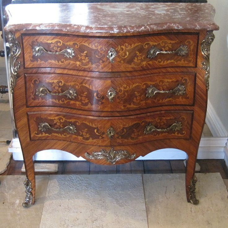 French Louis XV Commode Mid 19th Century