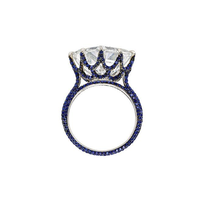 Sotheby's Diamonds Empire ring in diamond and sapphire, price upon requestFor information: sothebysdiamonds.com