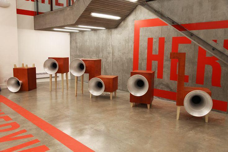 yuri suzuki: garden of russolo sound installation at V