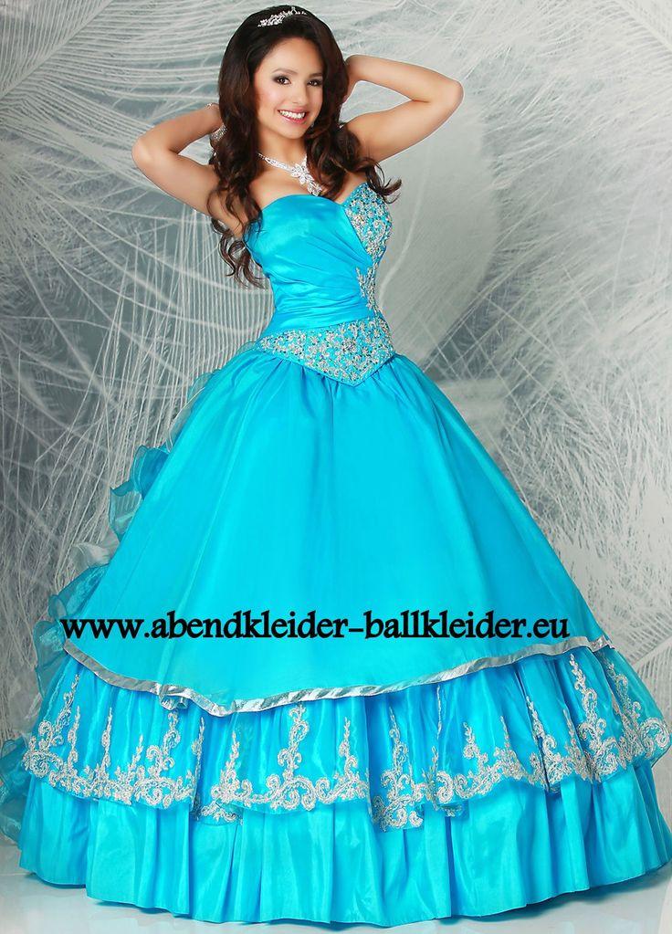Tolles Abendkleid Ballkleid Online in Hell blau