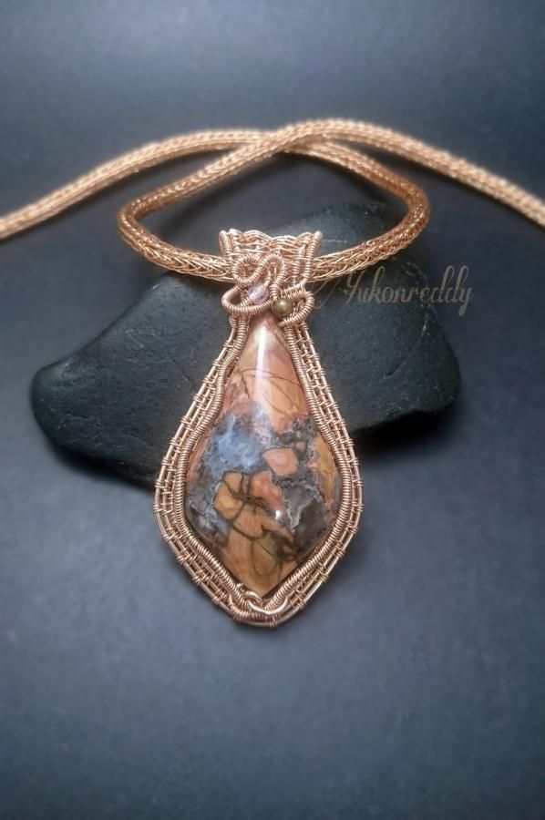 Cold Mountain Jasper necklace by Becca Ross