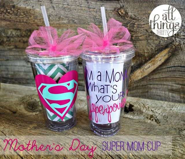 One more reason to buy a Silhouette.  Super Mom Cups {Happy Mother's Day!}