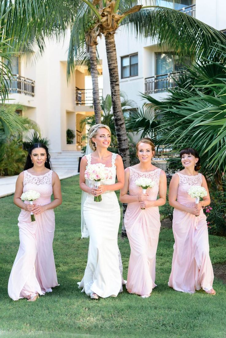 81 best bridesmaid dresses images on pinterest destination love these light pink lace bridesmaids dresses theyre gorgeous and perfect for a ombrellifo Gallery
