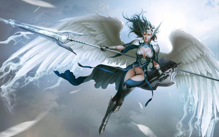 fantasy art artwork women woman female girl girls warrior angel