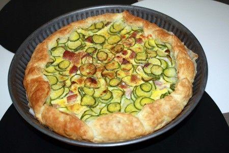Torta salata con zucchine e prosciutto   Ricette di ButtaLaPasta