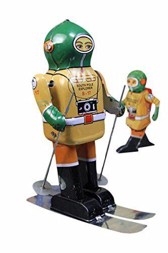 Juguete de Hojalata réplica Antiguo Colección Esquí Casco