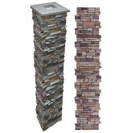 """Alpi Stone Porch Columns Gray 73"""""""