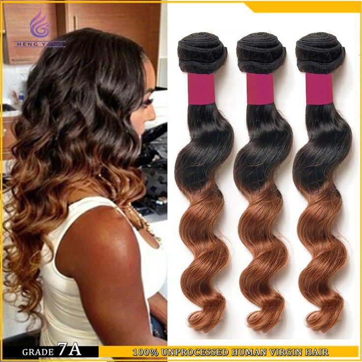 Find More Hair Weaves Information about Top grade unprocessed virgin hair extension 3 pieces lot 100g human bundle two tone ombre brazilian wavy hair weave loose wave,High Quality hair weave on,China hair weave brands Suppliers, Cheap weave set from HY Beauty Co. on Aliexpress.com