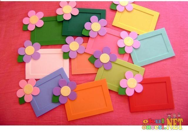 flower frame craft | Crafts and Worksheets for Preschool,Toddler and Kindergarten