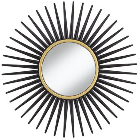 17 best images about ideas for the house on pinterest for Round black wall mirror