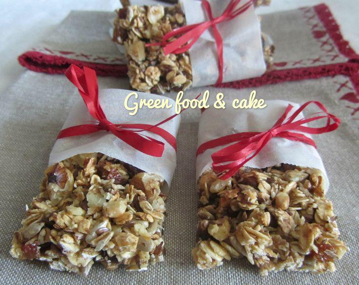 Barrette ai cereali e noci | Green food & cake