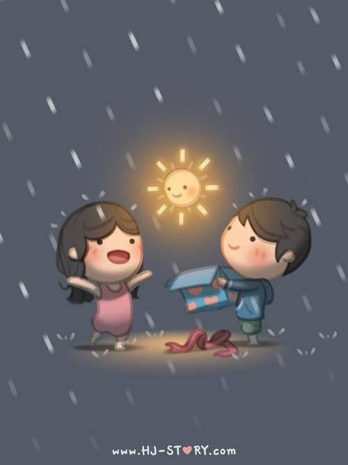 HJ-Story :: Amar é ..... Ensolarar um dia chuvoso